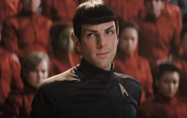 """Zachary Quinto as Spock in the movie """"Star Trek"""""""