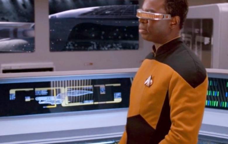"LeVar Burton as Lieutenant Geordi La Forge in ""Star Trek: The Next Generation"""