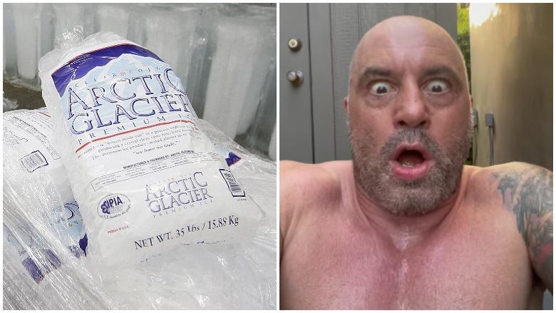 Joe Rogan in ice bath