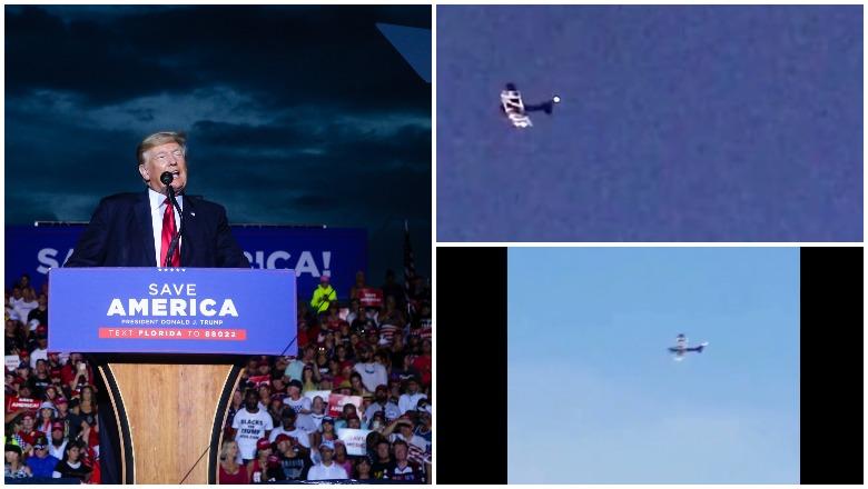 'Loser-Palooza' plane flies during the Trump rally.