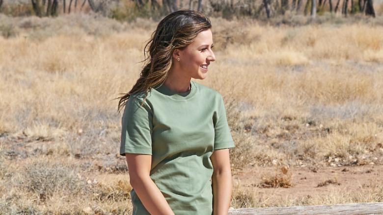 Katie Thurston outside.