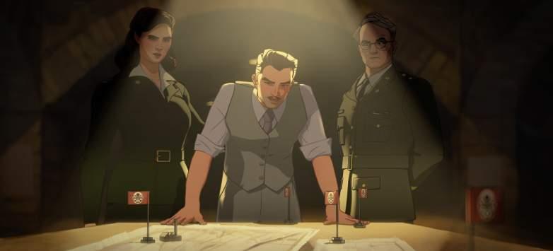 Peggy Carter, Howard Stark, ,Colonel Flynn