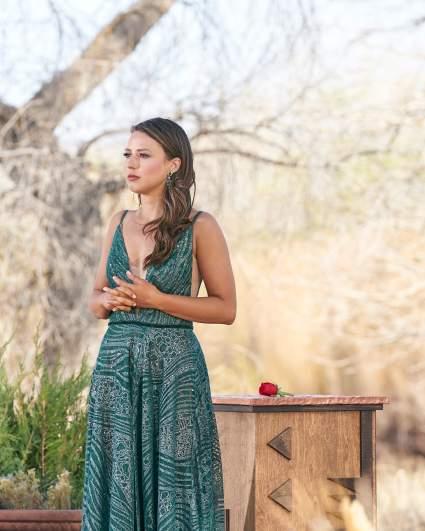 Katie Thurston green dress.
