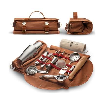 17 Piece Travel Bartender Kit Bag