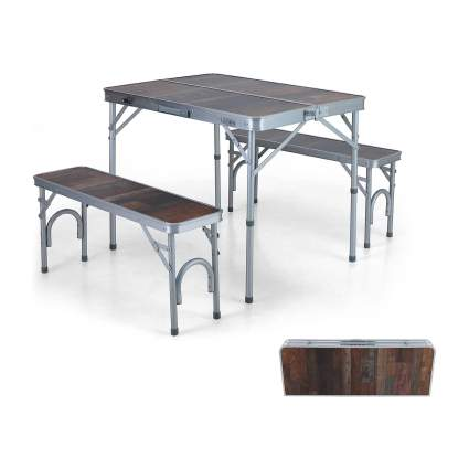 ALPHA CAMP Folding Table and Bench Set