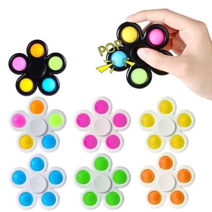 Abodhu Fidget Spinner Pop Toys 7 Pack