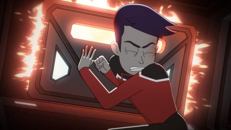 Jack Quaid as Ensign Brad Boimler of the Paramount+ series STAR TREK: LOWER DECKS