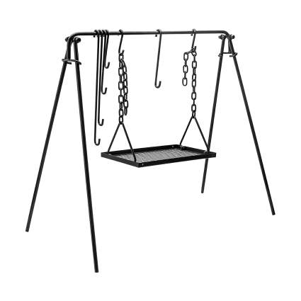 Bruntmor Grill Swing Campfire Cooking Stand