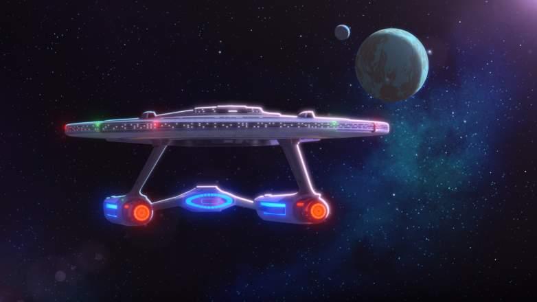 The U.S.S Cerritos of the Paramount+ series STAR TREK: LOWER DECKS