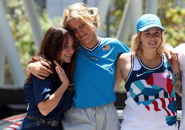 U.S. women's Olympic park skateboarders