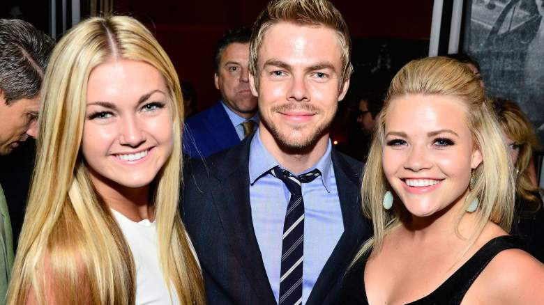 Lindsay Arnold, Derek Hough and Whitney Carson attend OK! TV Awards Party
