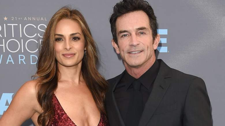 Actress Lisa Ann Russell (L) and TV personality Jeff Probst attends the 21st Annual Critics' Choice Awards
