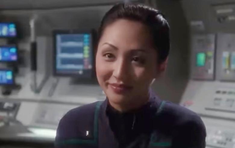 "Linda Park as Hoshi Sato in ""Star Trek: Enterprise"""