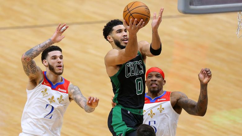 Jayson Tatum Lonzo Ball Celtics Pelicans