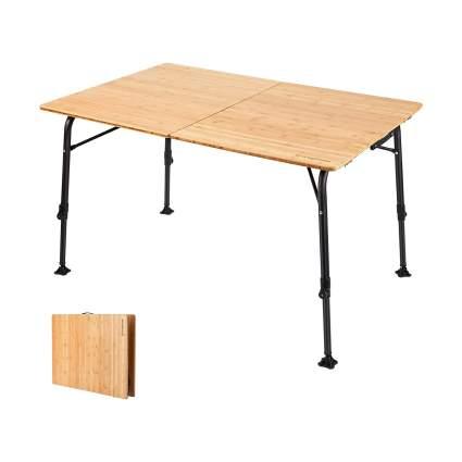 KingCamp Bamboo Heavy Duty Anti-UV Folding Table