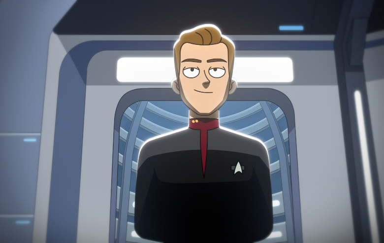"Lieutenant Tom Paris in ""Star Trek: Lower Decks"""