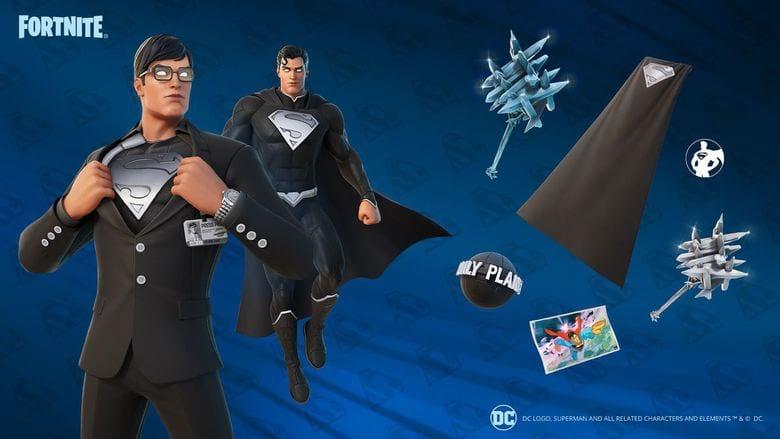 fortnite black suit superman