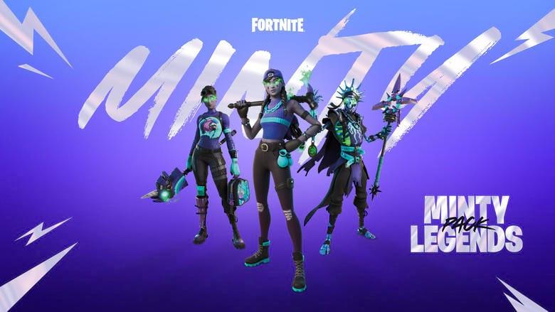 fortnite minty legends pack