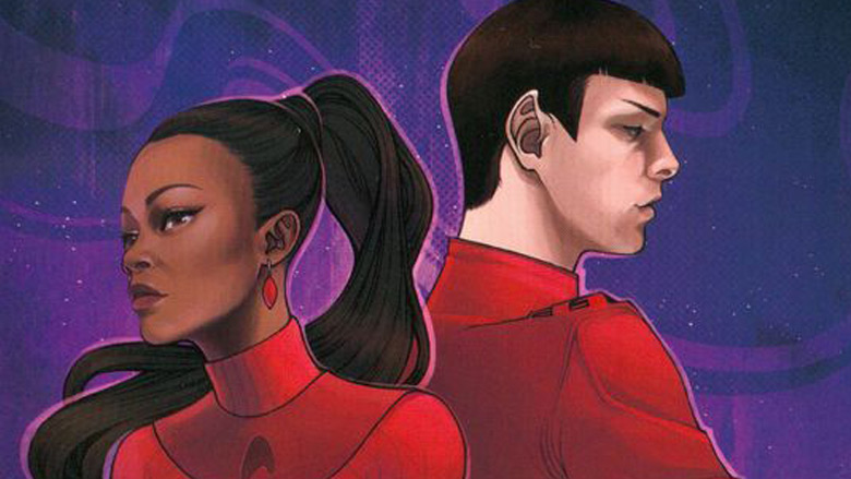 Uhura and Spock as seen in the Star Trek series by IDW Comics