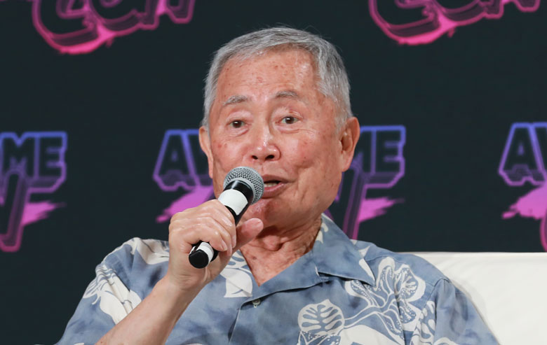 George Takei responding to questions about William Shatner at AwesomeCon on August 21, 2021.