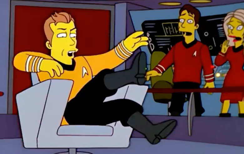'Star Trek' on 'The Simpsons'
