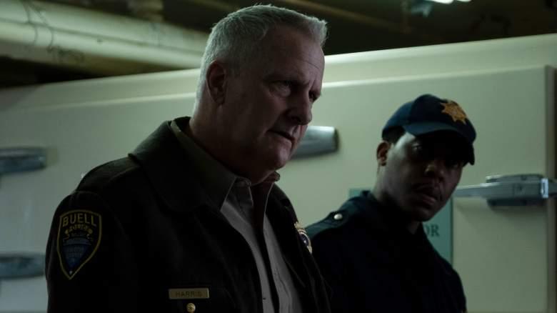 Jeff Daniels as Del Harris and Namir Smallwood as Sheriff Frank Deluca in AMERICAN RUST