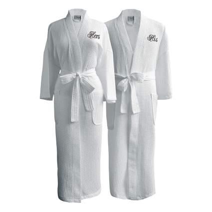 couples spa robe set