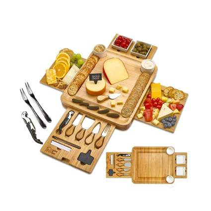 deluxe bamboo cheese board