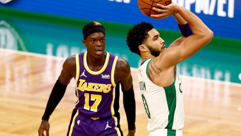 Dennis Schroder Jayson Tatum Celtics