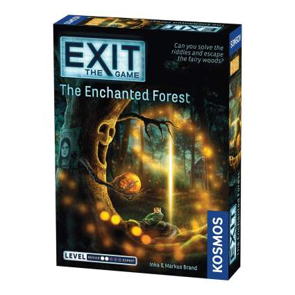 Exit escape room board game box
