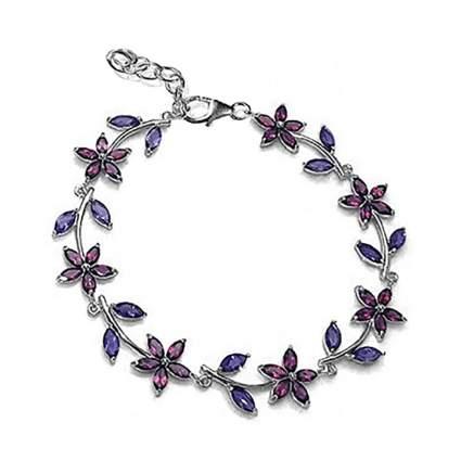 garnet and iolite flower bracelet