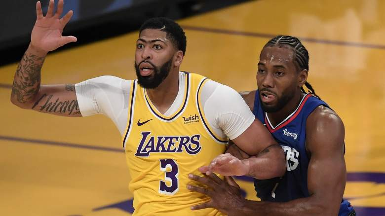 The Lakers' Anthony Davis and Kawhi Leonard of the Clippers