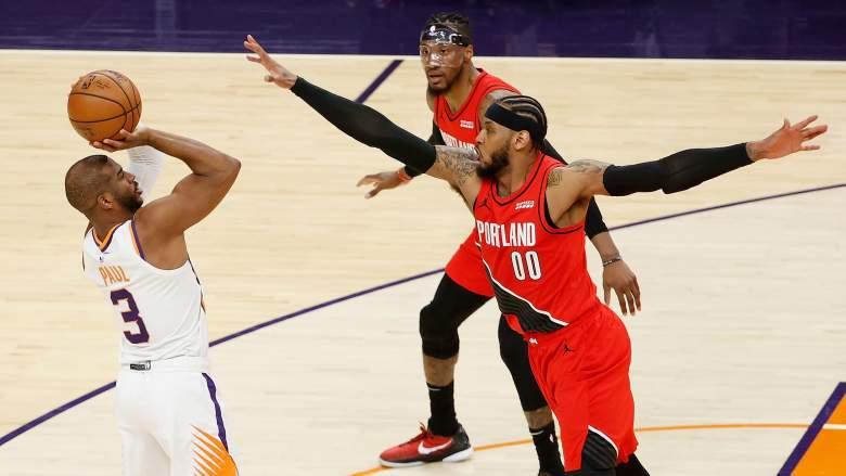 Carmelo Anthony, Chris Pau;