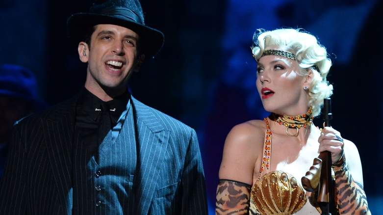 Nick Cordero and Amanda Kloots and the cast 'Bullets Over Broadway' perform onstage during the 68th Annual Tony Awards