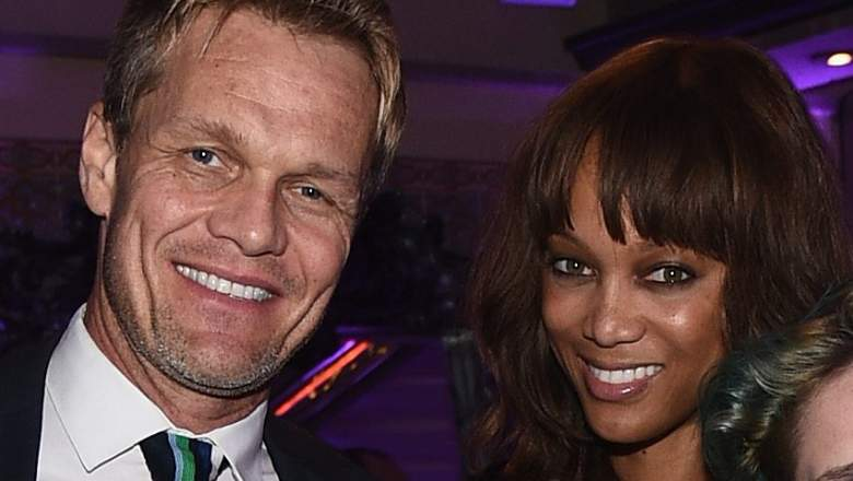 Photographer Erik Asla and model Tyra Banks attend the August Getty Atelier Dinner