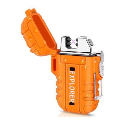 Orange electric arc lighter