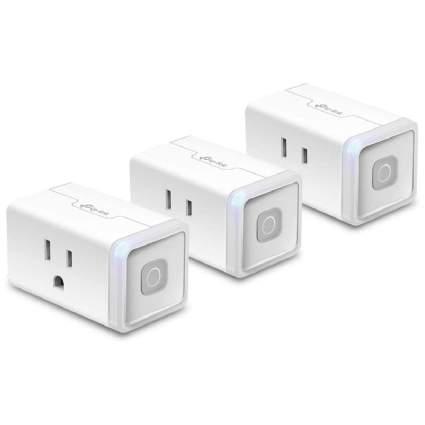Three rectangular smart plugs