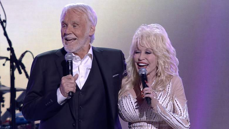 Kenny Rogers and Dolly Parton at the Rogers tribute concert