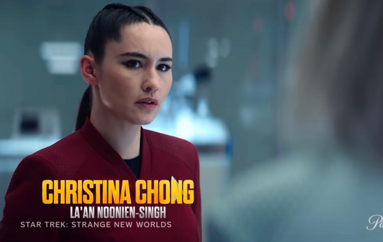 "La'an Noonien-Singh in the cast reveal trailer for ""Star Trek: Strange New Worlds"""