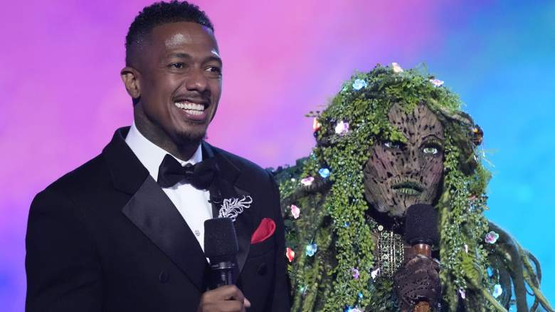 Host Nick Cannon with Mother Nature in the season premiere of THE MASKED SINGER.