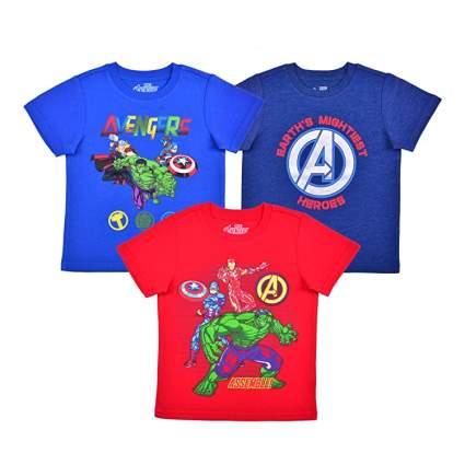 Marvel 3-Pack Avengers Short Sleeve Superhero Tee Shirt Set