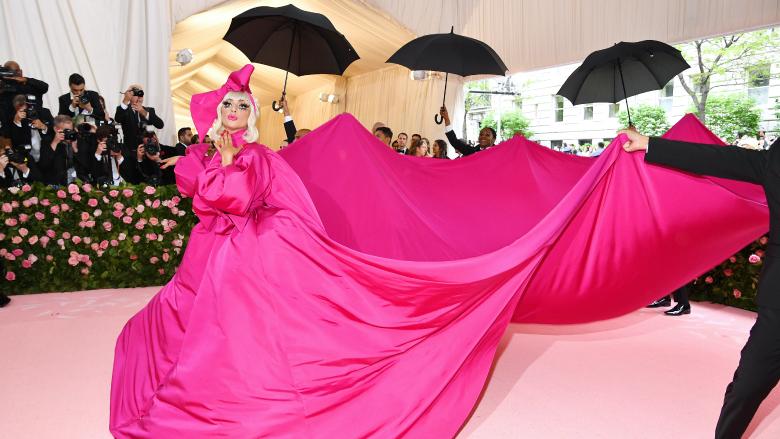 Lady Gaga attends the Met Gala.