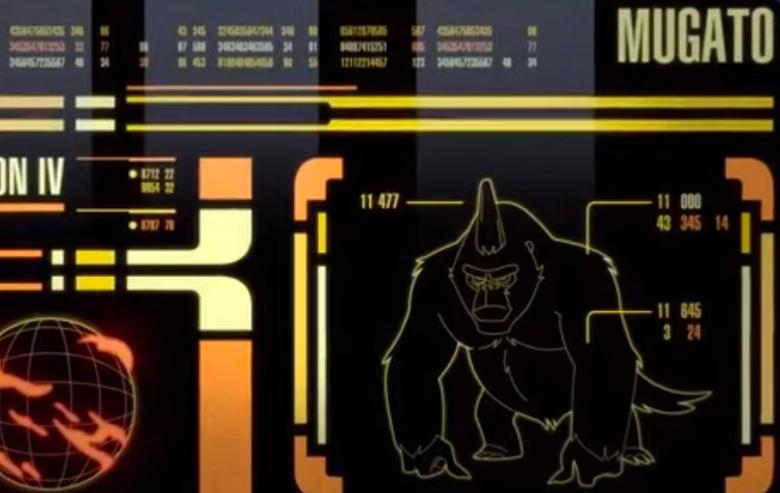 "File on a Mugato from ""Star Trek: Lower Decks"""