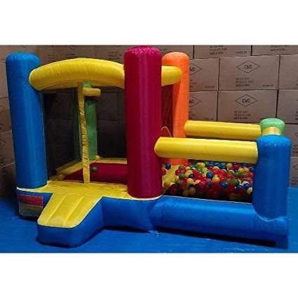 My Bouncer Little Castle Bounce House Bopper with Built-in Ball Pit