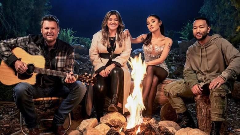 Blake Shelton, Kelly Clarkson, Ariana Grande, John Legend