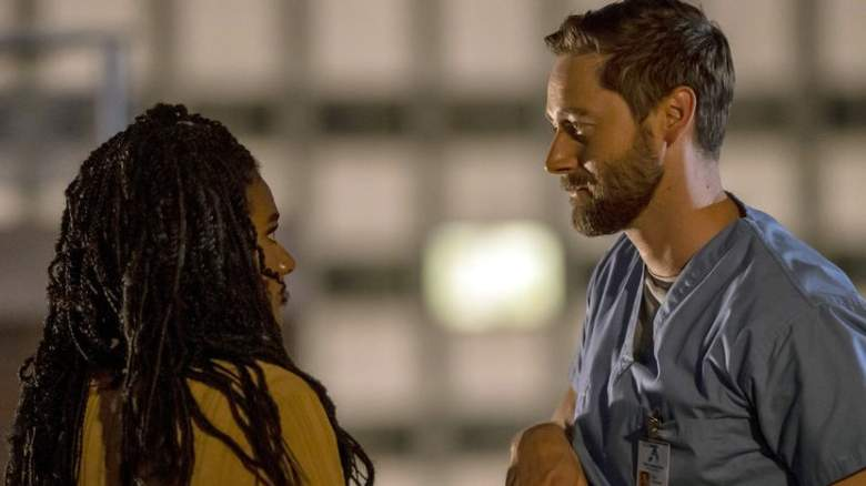 """""""More Joy"""" Episode 401 -- Pictured: (l-r) Freema Agyeman as Dr. Helen Sharpe, Ryan Eggold as Dr. Max Goodwin"""