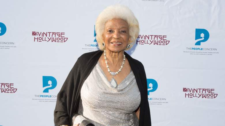 Nichelle Nichols attends the Vintage Hollywood Wine & Food tasting benefiting The People Concern on June 9, 2018