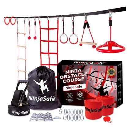 Ninja Warrior Obstacle Course for Kids Backyard