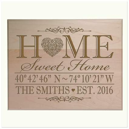 customized wood wall sign