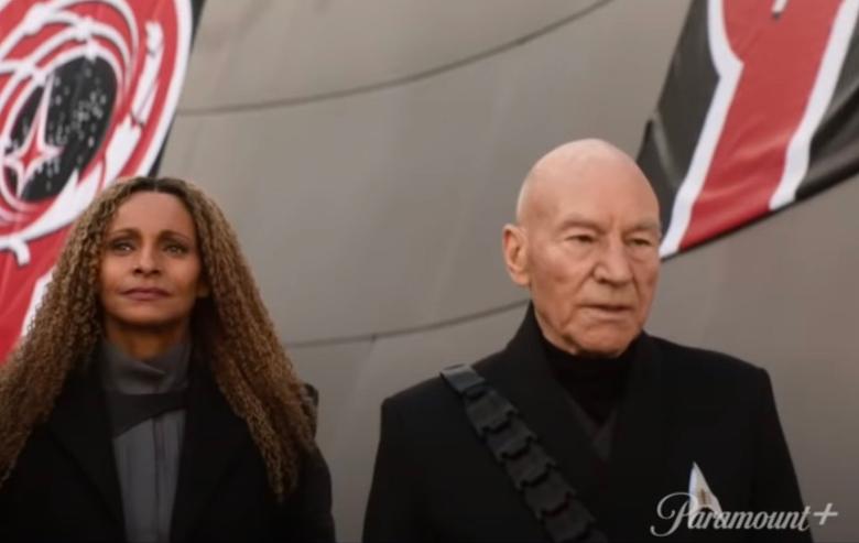 "Patrick Stewart and Michelle Hurd in ""Star Trek: Picard"" season two"
